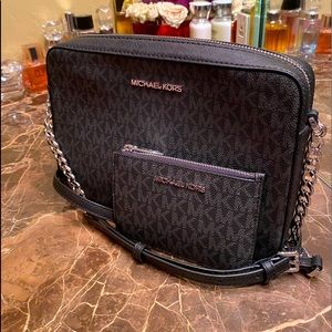 Brand new MK j set bag with c pouch wallet.